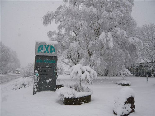 axa covered in snow