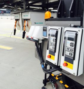 Two AXA 2400 Power Coils with common User Interface in Riga Airport