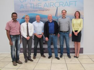 From left to right: Jeyalingam Kathirgamathambi, Martin Walsted, Jesper Nielsen ITW GSE AXA Power, Alexander Korytnikov, AEGE, Dmitry Lushin, Aviatransprocess & Olga Sergeeva AEGE