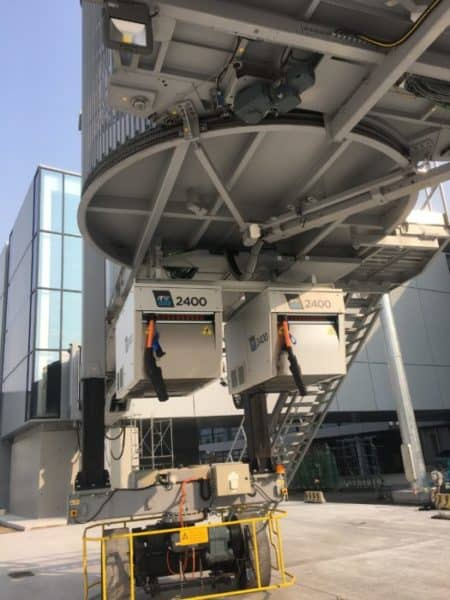 2 out of 153 x ITW GSE 2400 Power Coils installed in Shanghai Pudong Airport's New Satelite Terminal