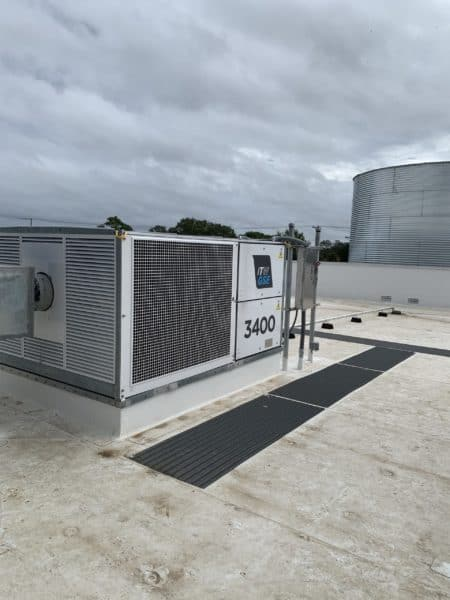 ITW GSE 3400 PCA 130 on roof of hangar, Tampa, Florida