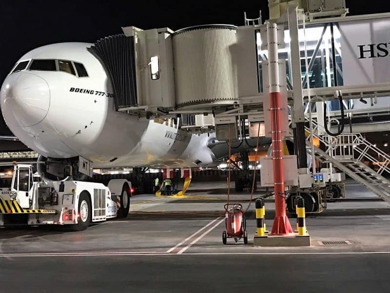ITW GSE 2400 Power Coils at Dubai Airport at night