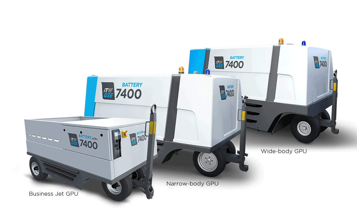 itw gse 7400 battery driven ground power units