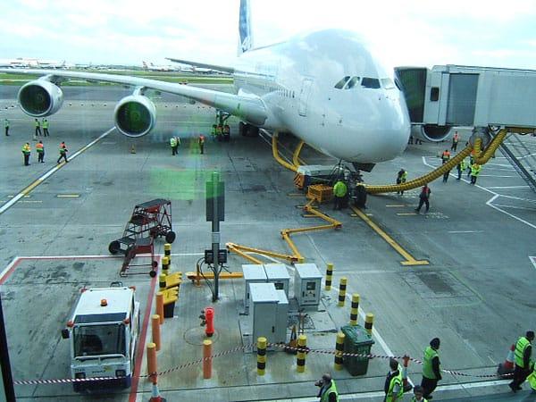 A380 at Landon Heathrow