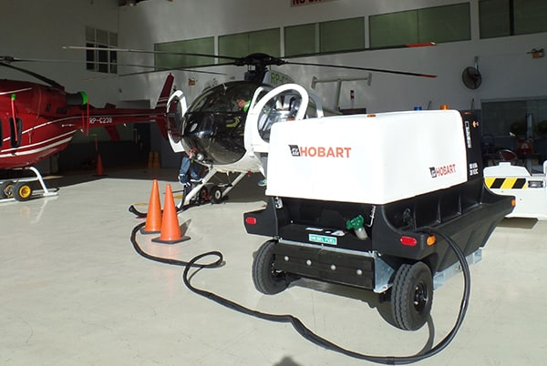 Hobart 4400 powering helicopter in Philipines