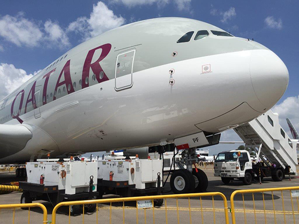 Hobart 180 kVA with A380 during Singapore Airshow