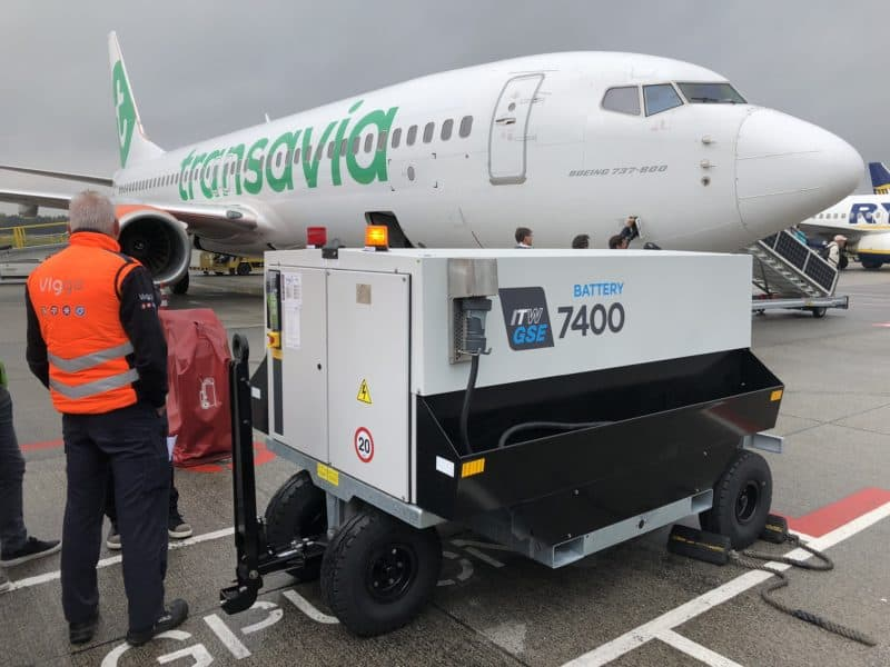 ITW GSE 7400 eGPU in daily operation in Eindhoven Airport, Netherlands