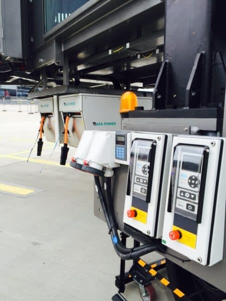Two AXA 2400 Power Coils with common ITW GSE User Interface in Riga Airport