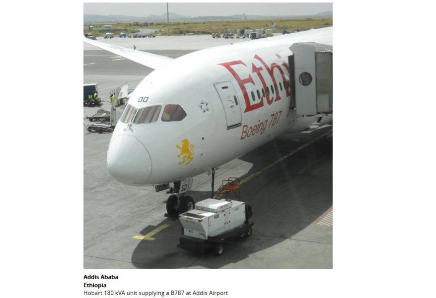 180 KVA Hobart with B787 (Ethiopia Airlines – Addis Airport)