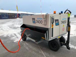 Ready Set Go, 7400 eGPU first turnaround in Kittilä Airport, Finland