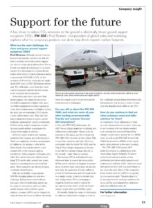 ITWGSE, itw gse, future airport magazine article, 7400, egpu, battery driven GSE