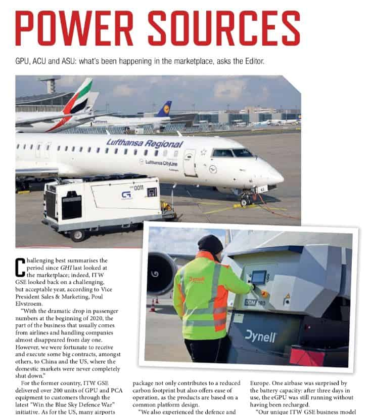 ground handling international article about battery units in april 2021